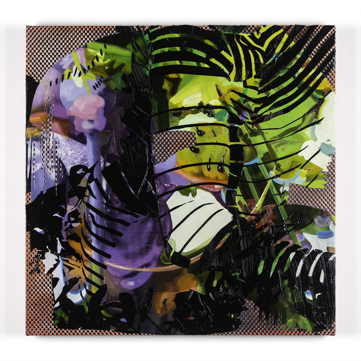Jimmy Baker, American artist, painting, digital printing : Politics of Gardening 3 painting