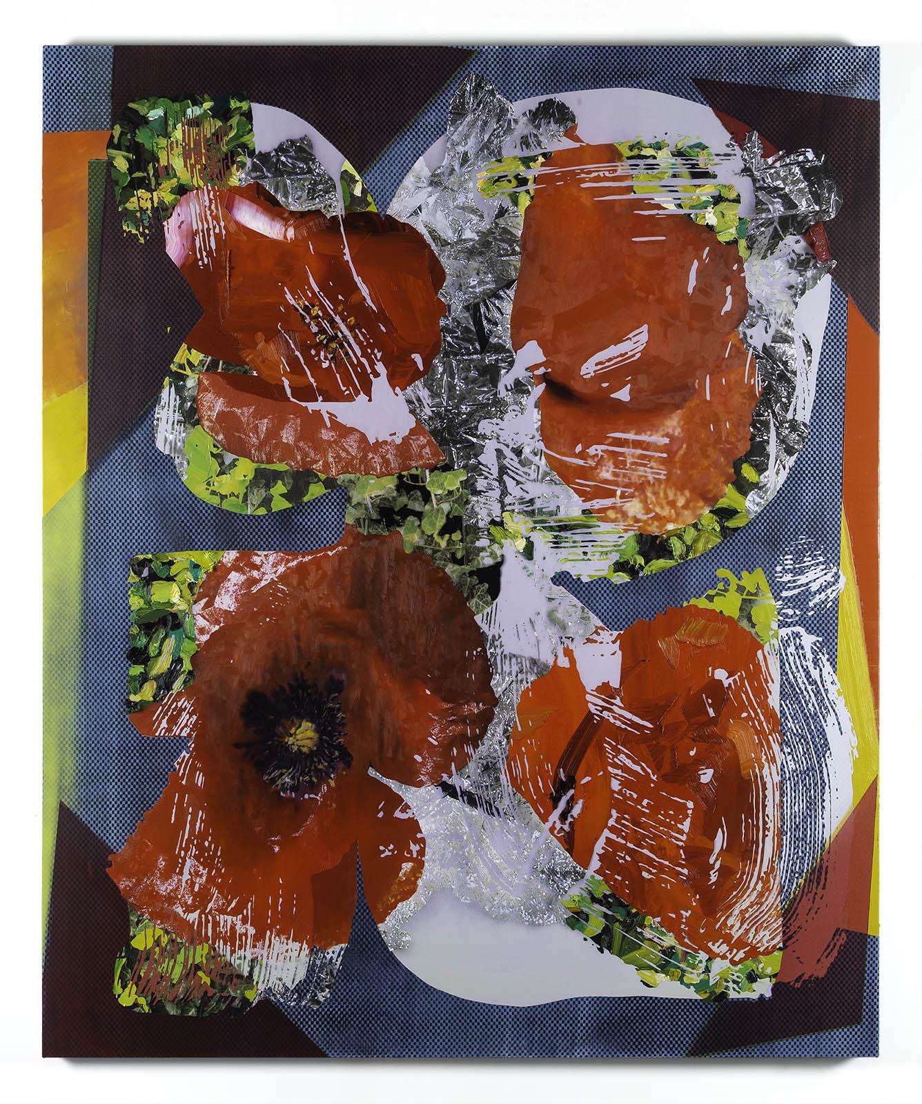 Jimmy Baker, American artist, painting, digital printing : Your Pleasure Centers painting