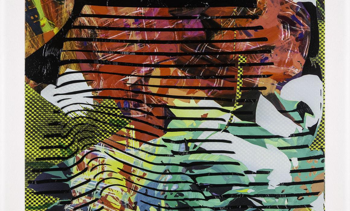 Jimmy Baker, American artist, painting, digital printing : Politics of Gardening 2 painting