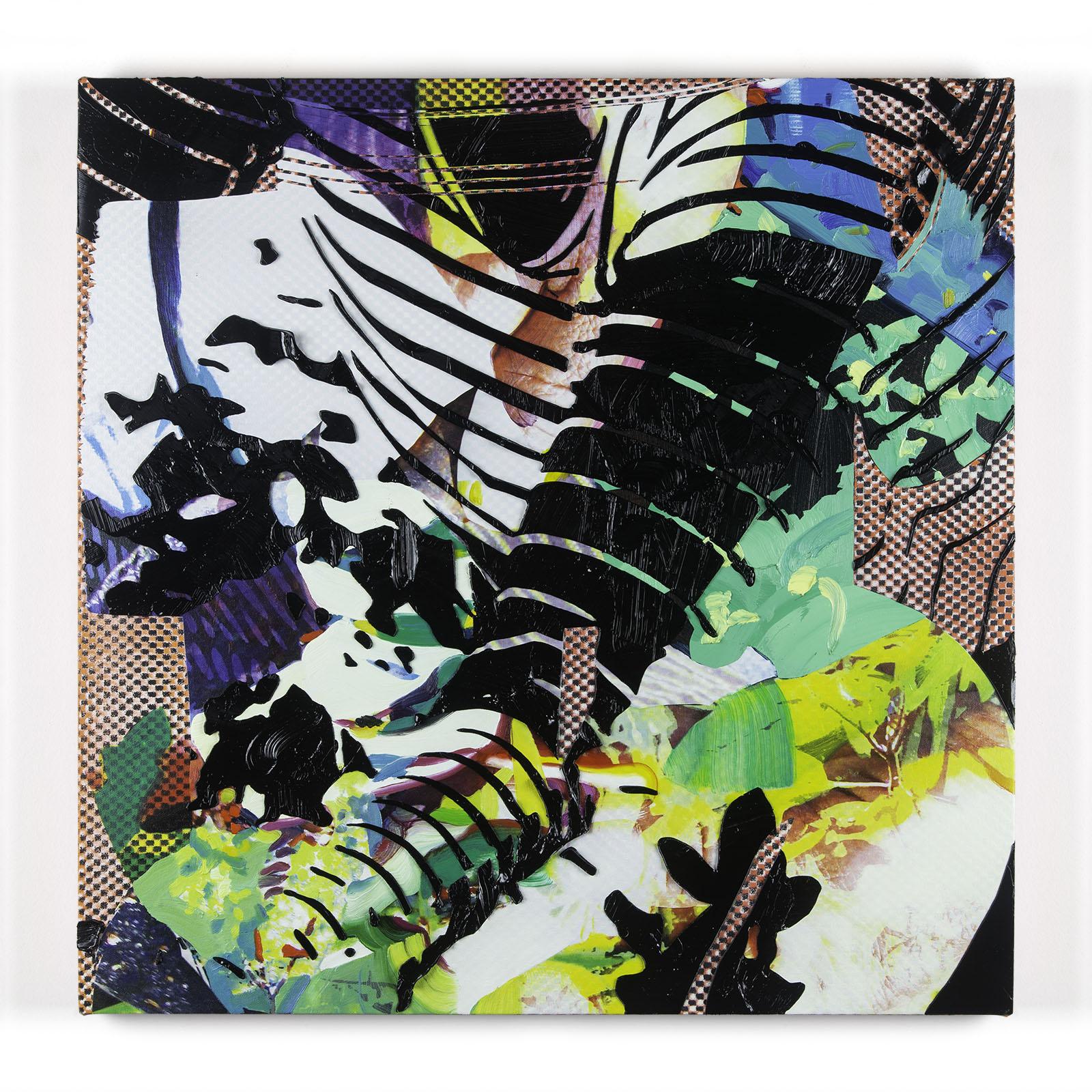 Jimmy Baker, American artist, painting, digital printing : The Politics of Gardening 1 painting