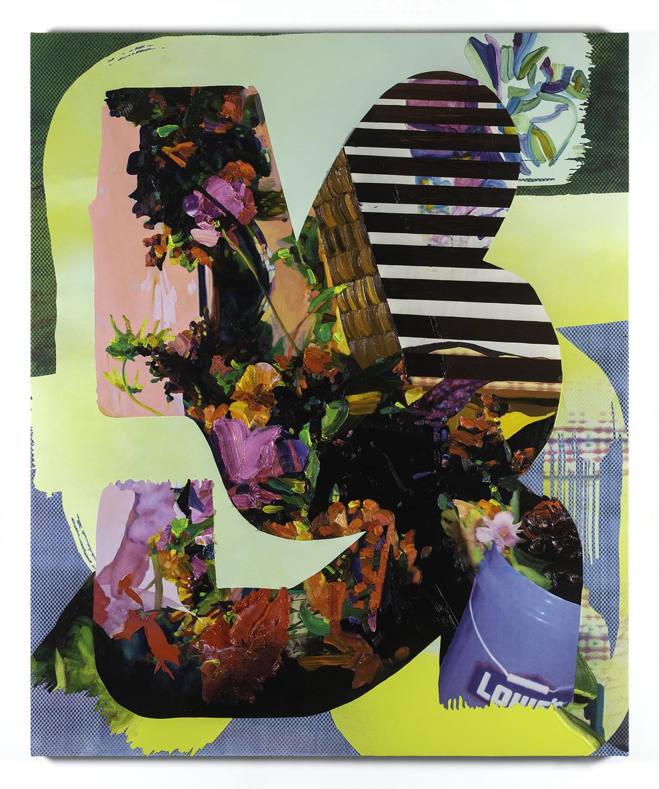 Jimmy Baker, American artist, painting, digital printing : Double Walker painting