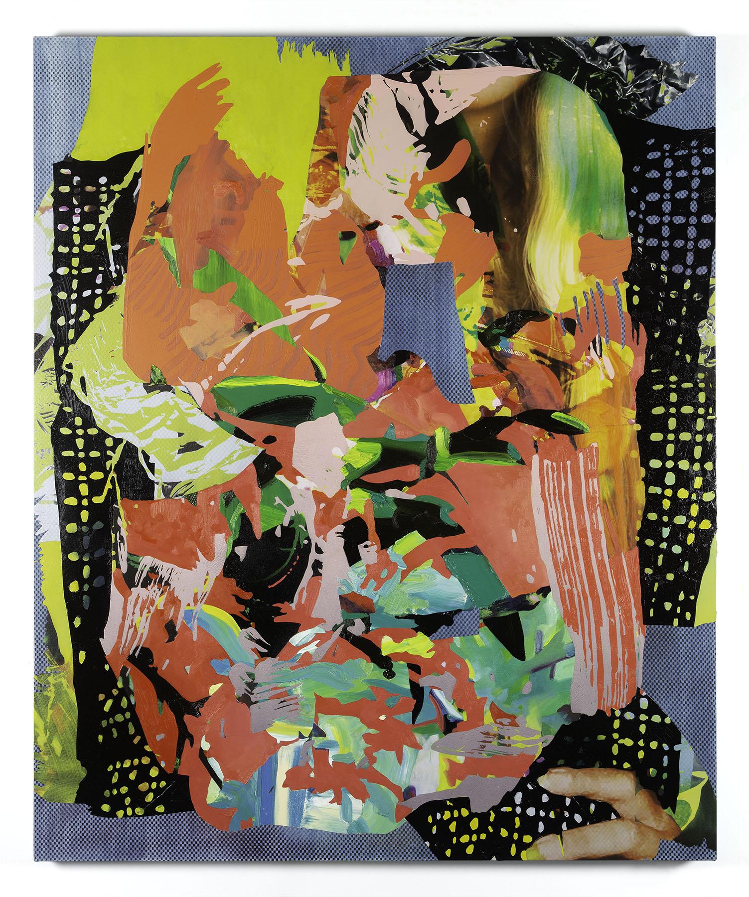 Jimmy Baker, American artist, painting, digital printing : Burden of Being (to Richard and Elizabeth)